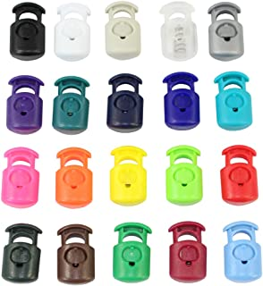 Primoloc Cord Lock (10mm x 7mm x 20mm) - SGT KNOTS - Thermoplastic Textured Crown Cord Stoppers - for Drawstrings on Clothing and Bags, Camping, Tie-Downs, Cable Organizers (10 Pack - Hot Pink)