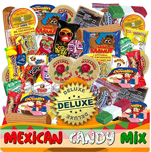 Mexican Candy Mix Assortment Snack (86 Count) Dulces Mexicanos Variety Of Best Sellers SWEET and TRADITIONAL Bulk candies, Includes Mazapan, Duvalin, Mamut, Obleas, by JVR TRADE (SWEET)