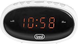 Trevi EC 880 Digital Clock with Alarm Clock, White, 13.5 x 6.5 x 5 cm