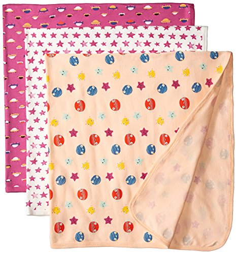 Rosie Pope Baby Girls 3 Pack Blankets, space/stars, One Size