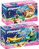 PLAYMOBIL Magic 70097 70098 - Juego de 2 figuras decorativas con caracol y sirena
