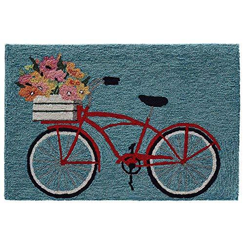 """Liora Manne Frontporch Bike Ride Indoor/Outdoor Rug, 1'8"""" x 2'6"""""""