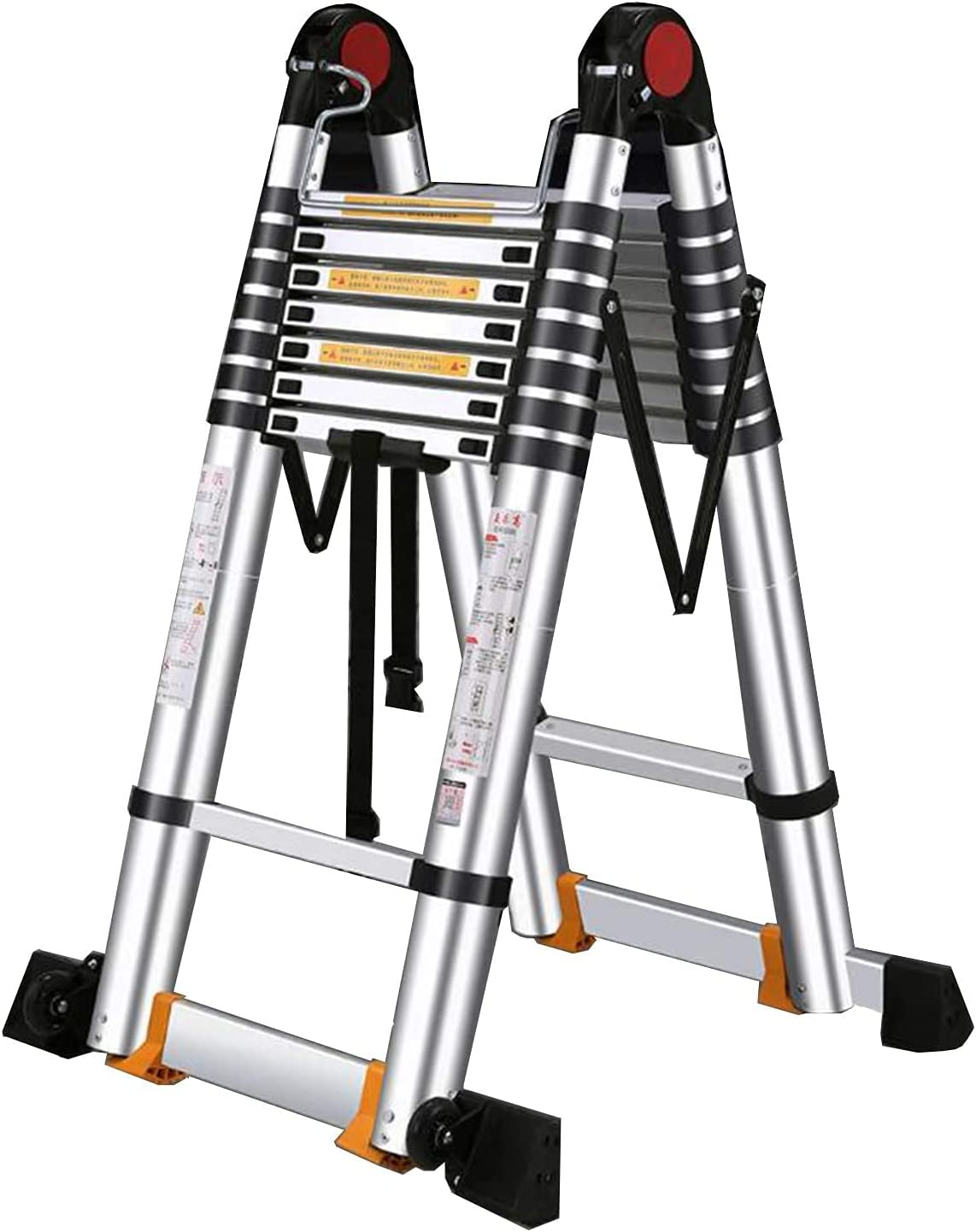 Spring new work HBSC Portable Telescopic Ladder with and Lock Safety Non-Slip OFFicial mail order Pe