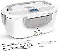 TRAVELISIMO Lunch Box Gamelle Chauffante Électrique pour Bureau et Travail 220V, Chauffe en Quelques Minutes, Acier Inoxyd...