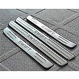 AILZNN Soglia Porta Battitacco per Suzuki Swift 2005-2020, Acciaio Inossidabile Esterno Batticalcagno Prevenire L'Usura Previene Graffi Protezione Accessori Decorativi, 4 Pezzi