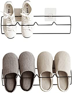 Esdella Shoes Rack Organizer Mounted Wall Storage Shelf Shoe Holder Keeps Any Shoes Off The Floor (Iron(Set of 2))