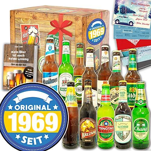 Original seit 1969 / Geschenk 12x Bier Welt und DE/Geschenkset Geburtstag