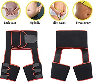 Awzcy 3 in 1 Waist Trainer Thigh Trimmer for Women Thigh Shaper High Waist Fashion Shaping Slimming Belt for Body Workout Fitness Fat BurnerL/XL
