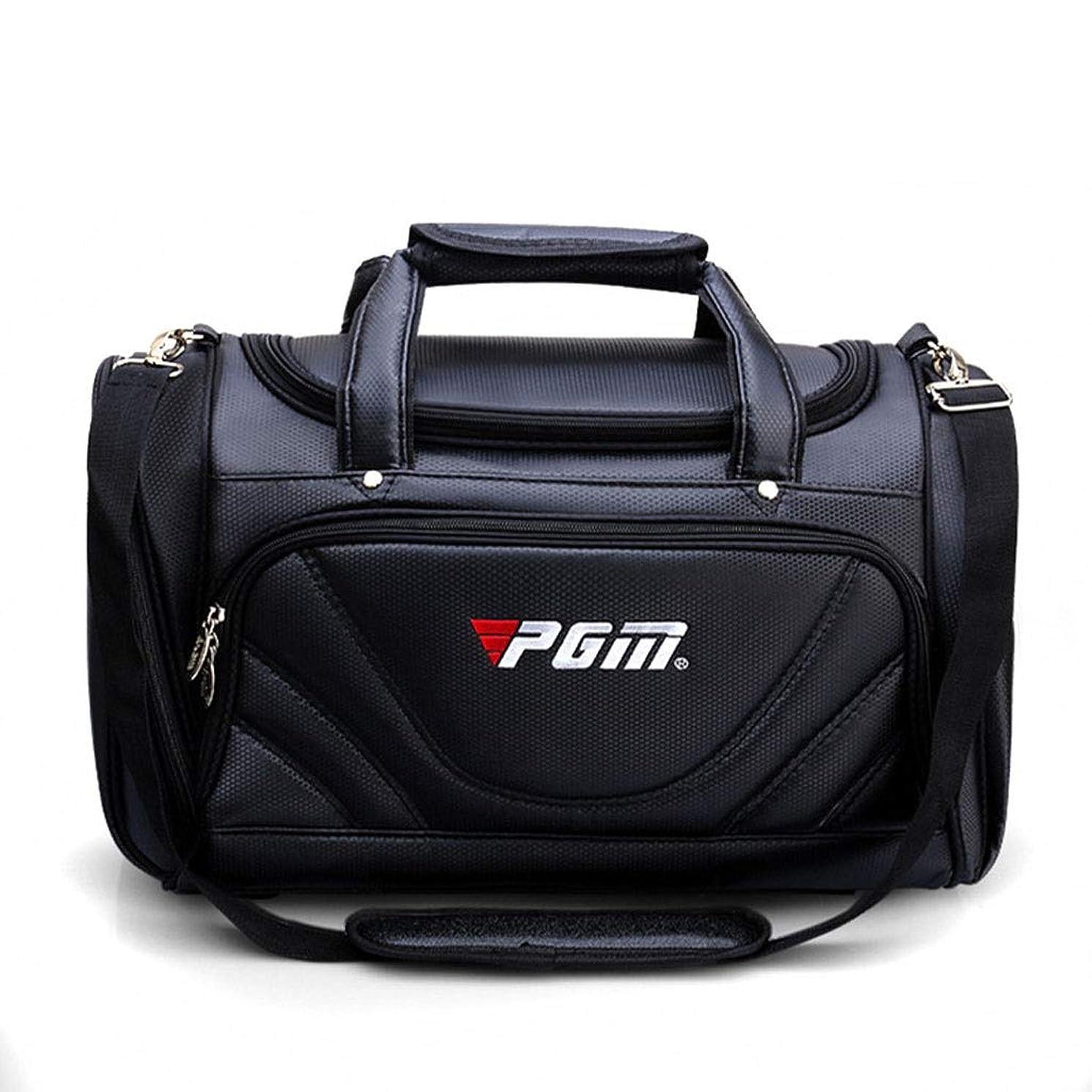 傾向彼らのもの比較的ポータブルゴルフの服バッグメンズボールバッグ大容量ポータブルブラックゴルフシューズバッグ多機能バッグ服 (Color : Black)