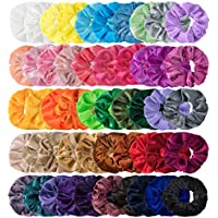 HBselect 50 Gomas Pelo Colores Distintos Coleteros De Terciopelo Suave Coleteros Pelo Mujer Chica Coleteros De Colores Para El Pelo Cola De Caballo