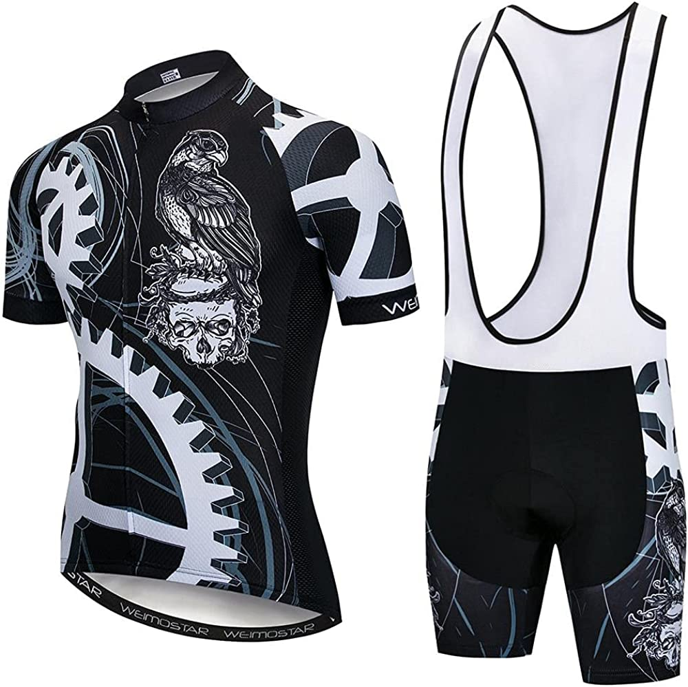 SUDUSUDO Men's Direct store Cycling Be super welcome Jersey Set Breat Sleeve Shirts Bike Short