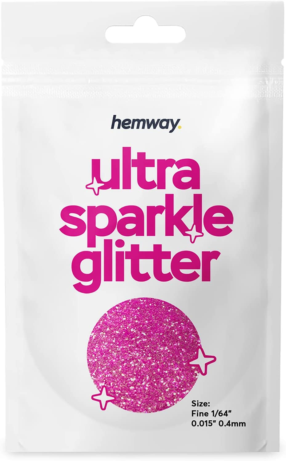 """Hemway Ultra Sparkle Glitter 10g / 0.35oz Sample Cosmetic Safe Body Hair Face Nail Festival Resin Crafts Weddings Art Beauty Tumbler - Fine (1/64"""" 0.015"""" 0.4mm) - Baby Pink Iridescent : Beauty & Personal Care"""