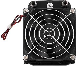 TAOHOU Fila de enfriamiento de Agua de 80 mm con Ventilador para CPU Computadora Radiador intercambiador de Calor Negro