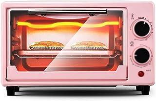 Wghz Mini Oven Oven Home Horno pequeño Horno multifunción automático 11L con Parrilla y Bandeja para Hornear, para Pan, Pollo, Frito, Huevo, Tostada, Rosa