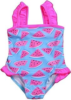 Siswong Costume da Bagno Ragazza Bambina Abbigliamento sportivo Costumi Interi Costumi da Bagno Intero Senza Manica Bikini Estivi Monokini Spiaggia Beachwear con Stampa di Cigni Moda Swimsuit One Piece