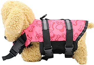 Gonxifacai Pet Clothes, Clothing Supplies, Adjustable Dog Life Jacket and Rescue Handle