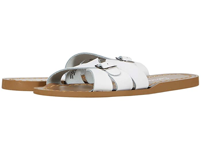 Salt Water Sandal by Hoy Shoes  Classic Slide (Little Kid) (White) Girls Shoes