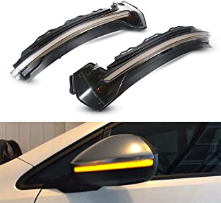 Moshbu Smoked Dynamic Sequential Blink LED, Side Mirror Sequential LED Turn Signal Light for Audi A3 / S3 MK3 8V (2014-on) (2 Pcs) - Attractive Dynamic Marker Light Design
