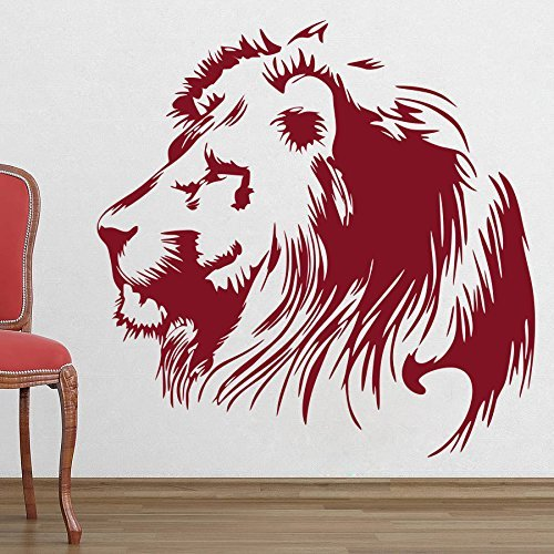 Preisvergleich Produktbild Zigzacs Wandaufkleber Löwe Gesicht Design Abnehmbare Aufkleber Kunst Home Decor Poster