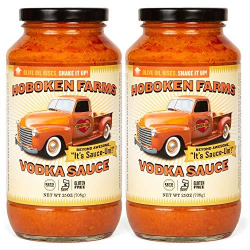 Hoboken Farms Vodka Sauce - Keto Certified, No Sugar Added, Gluten Free, Vegetarian, Plant Focused Pasta Sauce (2-Pack)