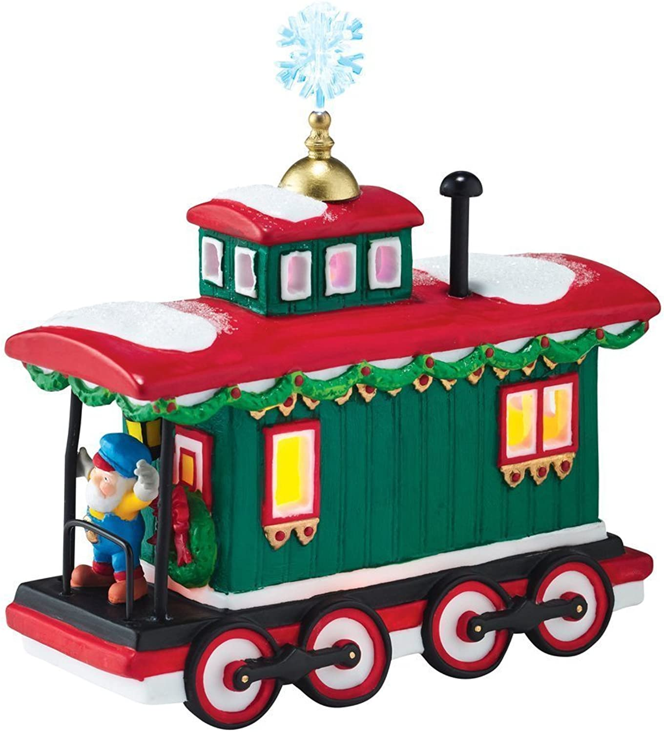 Department 56 North Pole Village Northern Lights Caboose Train Figurine 4050968