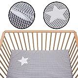 Laufstalleinlage Softy Karo +Tragetasche 100x100cm für Kinderbett Laufstall (100% Baumwolle)
