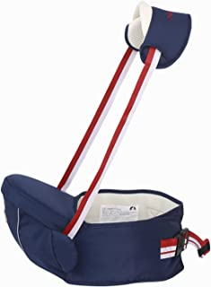 AIEOE Infant Waist Seat with Straps Baby Seat Carrier Outdoor Seat Support Multifunctional Breathable Seat Carrier Dark Blue