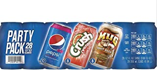 Pepsi Soda 3 Flavor Party Pack (12 oz /28 pk)