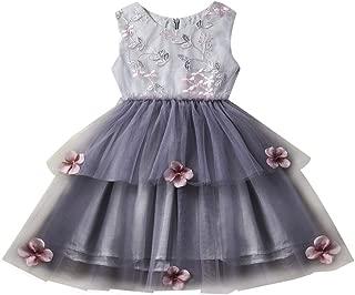 Sunbona (TM) Toddler Baby Girls Tutu Skirts Dress Kids Summer Sleeveless Princess Dresses Kid Baby Party Flower Mesh Wedding Dress