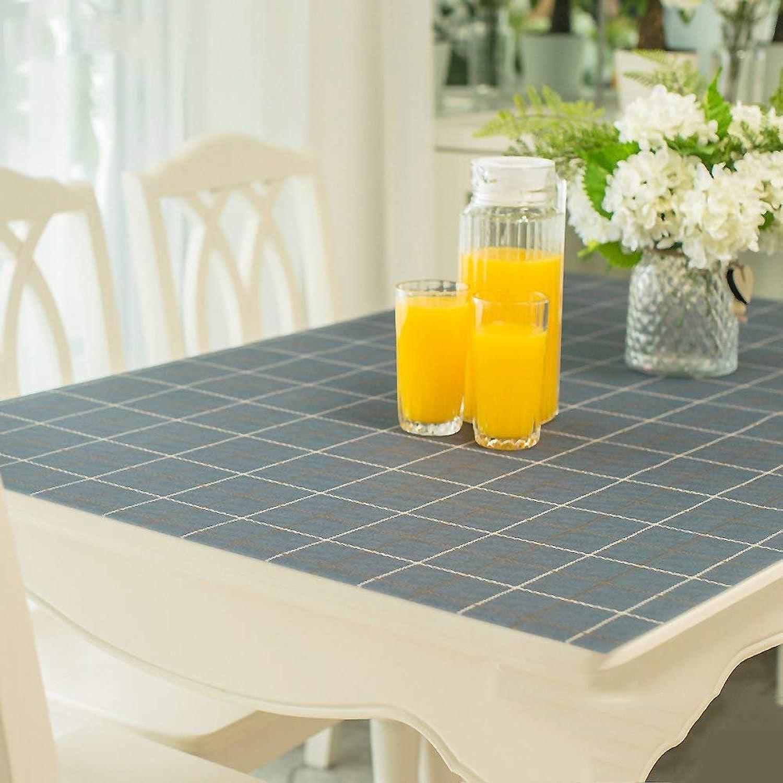 productos creativos WENYAO WENYAO WENYAO Tablecloth Waterproof Anti-Hot Transparent tabmat Plastic Tablecloth Pad Tea tabmat Thick 1.0mm,A_90x150cm  barato