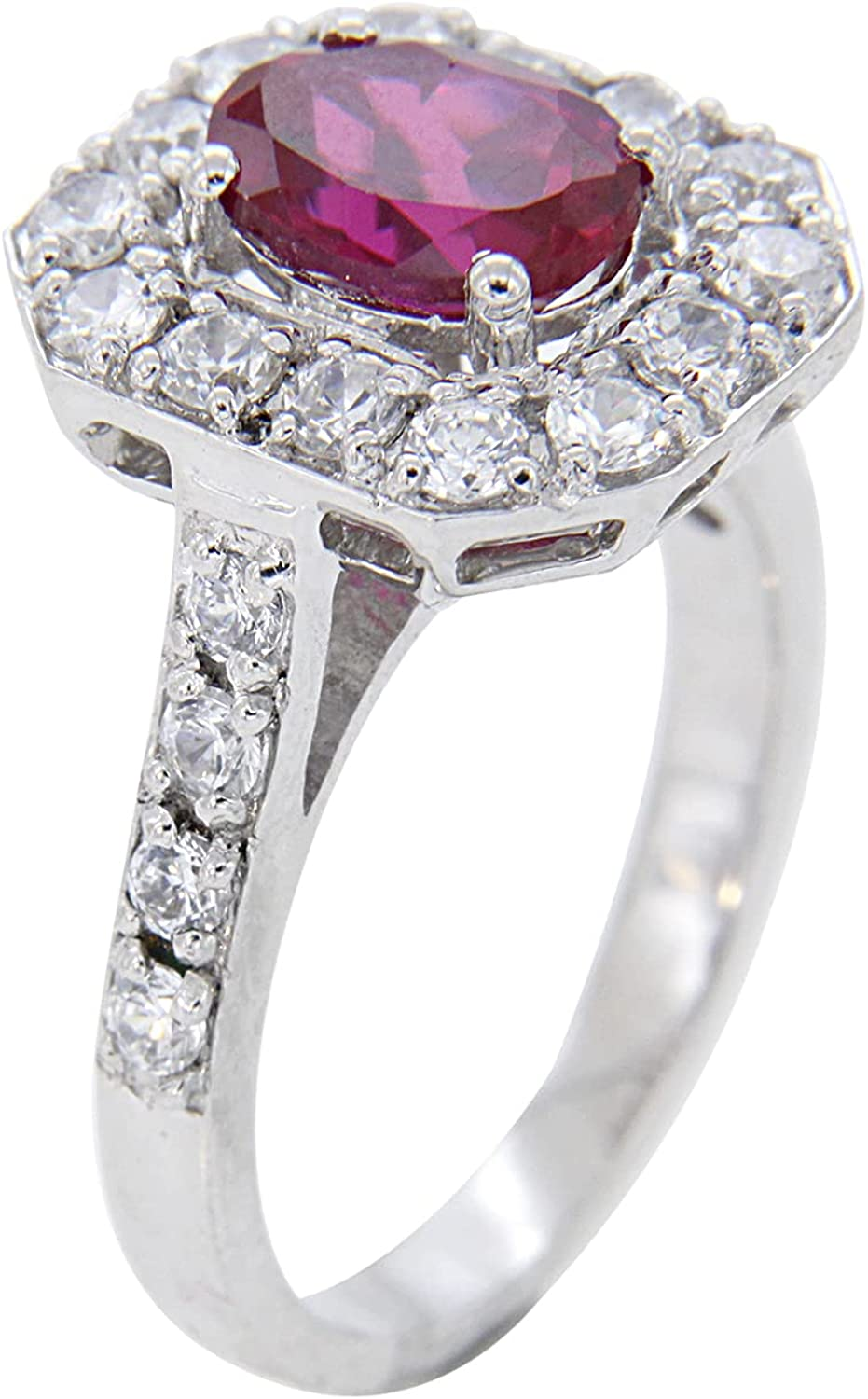 IGI Certified 1.32 Carat Emerald-Cut Long Beach Mall oval Engagement w Directly managed store Ruby Ring