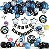 誕生日 飾り付け 風船 バースデーバルーン Happy Birthday サプライズ 装飾 子供の誕生日パーティーのテーマに適し男の子 ヘリウムガス 風船用 (宇宙)