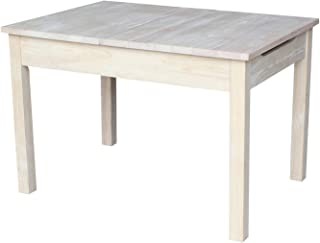 International Concepts Table with Lift Up Top for Storage, Unfinished