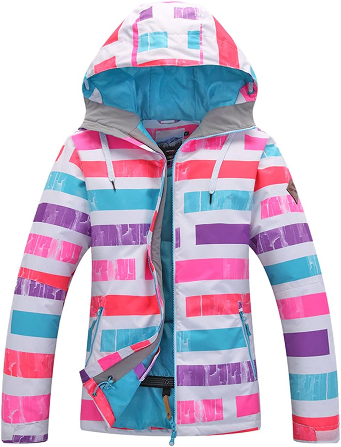 HOTIAN Women's Waterproof Snowboard Ski Jacket Windproof Snow Jacket Below Zero Coat