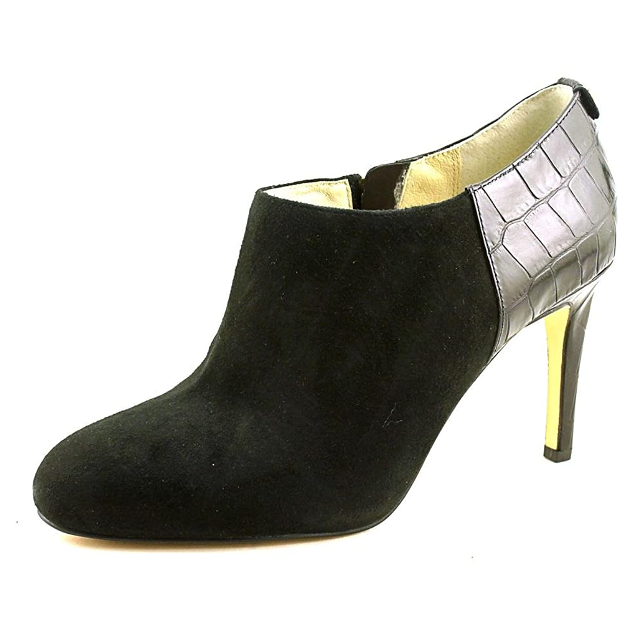 言い直す不明瞭ゲームMichael Kors Womens Sammy Ankle Boot Almond Toe Leather Fashion Boots, Black, Size 5