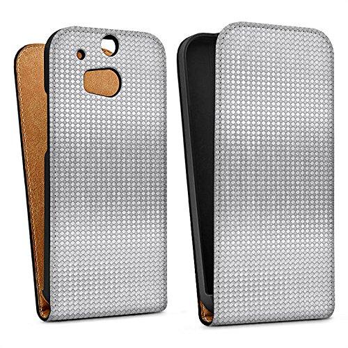 DeinDesign HTC One M8s Tasche Hülle Flip Case Silber Silver Pattern