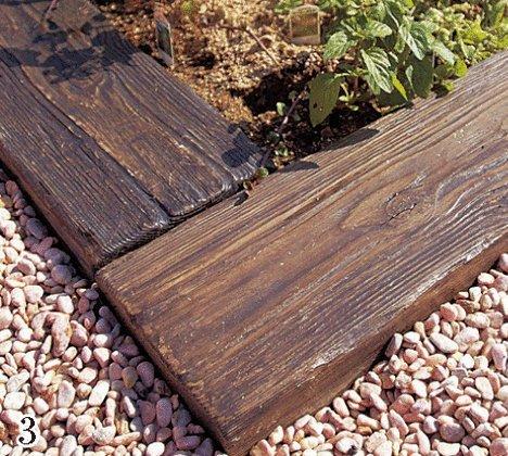 コンクリート製枕木 リアルウッドランバー3枚組【床材】LY-300(300*200*60)