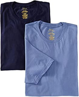 Polo Ralph Lauren Big Man 100% Cotton Crews - 2 Pack (LXCN) XL/Cruise Navy/Blue