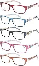 5 Pack Ladies Reading Glasses Spring Hinges Stylish Pattern