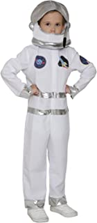 Kids NASA Astronaut Costume Childrens Pilot Costume Spaceman Jumpsuit Flight Dress Up Costume with Helmet