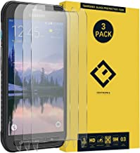 CENTAURUS Galaxy S6 Active Screen Protector, (3 Packs) Ultra-Thin Anti-Scratch Anti-Fingerprint Clear 9H Hardness Tempered Glass Protective Film Replacement for Samsung Galaxy S6 Active SM-G890