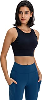 Sports Bra Women, Breathable Comfy Active Bras with Padded for Yoga Running Gym Exercise,Black,12