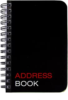 "BookFactory Mini Address Book/Pocket Address Notebook/Small Pocket Sized Address Notebook, 120 Pages - 3 1/2"" x 5 1/4"