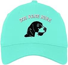 Custom LowProfileSoft Hat Beagle Head Silhouette Embroidery Dog Name Cotton