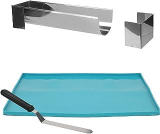 Lily cook KDO8594 Noel-Coffret Buche Moule Plaque Genoise Spatule Metal Argent Bleu, PP, 37 x 27 x 1 cm
