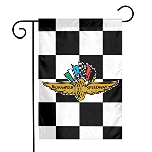 Indiana-Polis Motor Speedway Garden Flag 12 x 18 Inch Double-Sided Outdoor Decoration For Yard Farmhouse