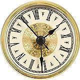 7 1 2 clock insert - Hicarer 2.8 Inch/ 70 mm Roman Numeral Clock Insert with Gold Trim, Quartz Movement