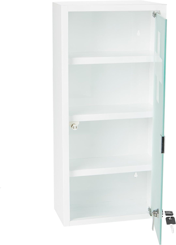 Mind Reader MEDCAB4-WHT Medicine Cabinet, White
