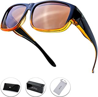 4e29f17bcc The Fresh High Definition Polarized Wrap Around Shield Sunglasses for  Prescription Glasses - Gift Box Package