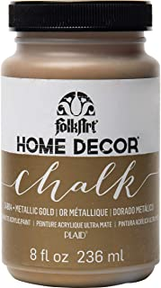 FolkArt 34804 Home Decor Chalk Furniture & Craft Paint in Assorted Colors, 8 ounce, Metallic Chalk